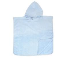 Babyponcho | 55 x 55 cm Lichtblauw