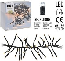 Clusterverlichting - 1512 LED - 11m - extra warm wit  Allee…