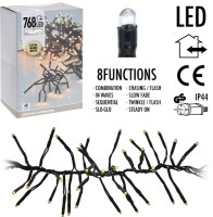 Clusterverlichting 768 LED - 5.5m - extra warm wit  Alleen…