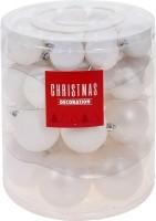 Kerstballenset - 44 stuks plastic - mat wit  Alleen deze we…