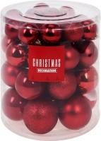 Kerstballenset - 44 stuks plastic - rood  Alleen deze week…