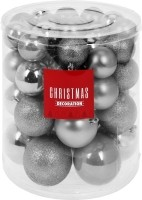Kerstballenset - 44 stuks plastic - zilver  Alleen deze wee…