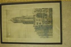 Oude tekening van de Dom in Utrecht