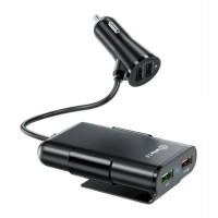 Quick Charge 3.0 Autolader met Verlengkabel en 4 Poorten  3…
