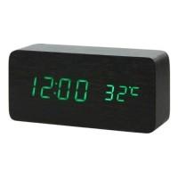 Houten Digitale LED Klok - Wekker Alarm  Snooze Temperatuur…