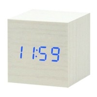 Houten Digitale LED Klok - Wekker Alarm  Snooze Helderheid…