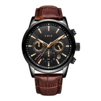 Luxe Horloge voor Heren met Leren Bandje - Anoloog Mechanis…