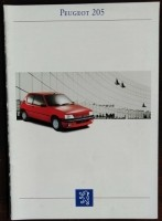 Folder/brochure - PEUGEOT 205