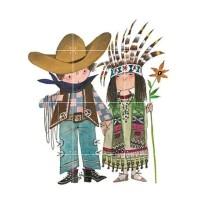 IXXI 'Cowboy en Indiaan' - 80 x 60 cm - Fiep Westendorp