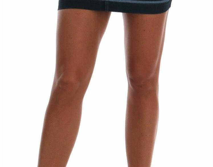 Dolce & Gabbana Blue Short striped Mini Denim Skirt IT38 XS