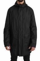 Dolce & Gabbana Black Logo Mens Coat Windbreaker Jacket IT5…