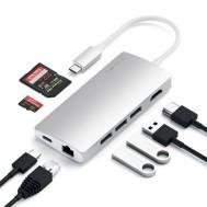 Satechi USB-C Multi-Port Adapter 4K Ethernet V2 Zilver