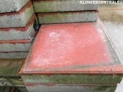 21015 25m2 rood restpartij NIEUWE dikke betontegels 30x30x6…