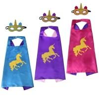 Unicorn 8 x cape + masker - assorti