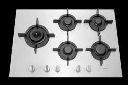 Pelgrim GK875 RVS inbouw gaskookplaat met A+ branders
