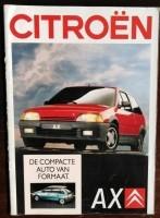 Folder/brochure - CITROËN AX -1988