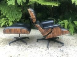 2013 Herman Miller Eames Lounge Chair -  zwart leer