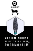 PodoMonium Keramische Frees Black Panter Medium Course