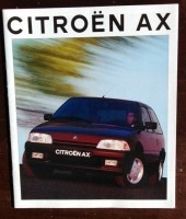 Folder/brochure - CITROËN AX - 1992