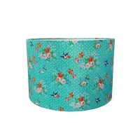 Hanglamp 'Flowers' - turquoise