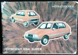Instructieboekje CITROËN VISA Super - 1979