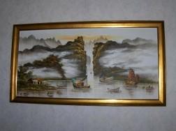 Chinees schilderij 130 x 70 cm