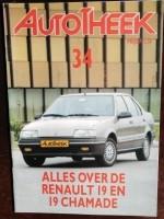 Autotheek 34 - Alles over de Renault 19 en 19 Chamade
