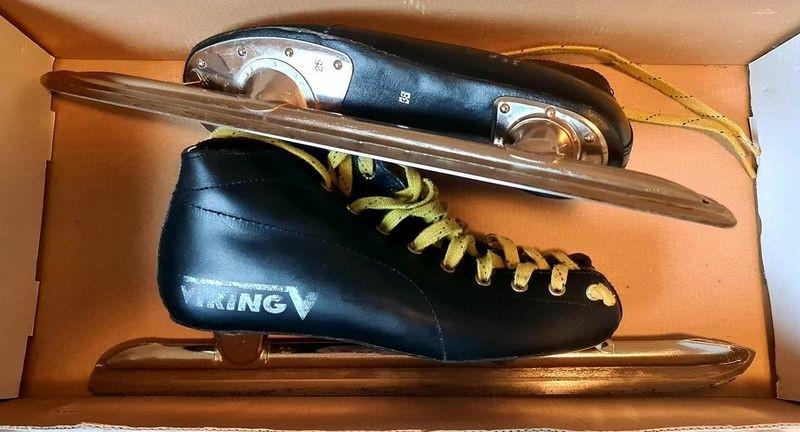 Schaats schaatsen lage noren leer maat 38