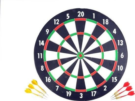 Longfield Dartbord + Dartpijlen 18 Gr