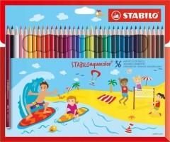 STABILO Aquacolor etui 36 kleurpotloden