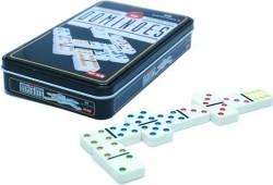 Domino dubbel 6 in blik punten kleur