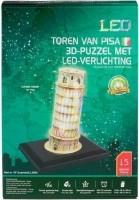 Toren van Pisa 3D-puzzel met led-verlichting