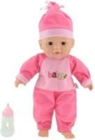 Liggende Babypop Donkerroze 30cm