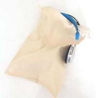 Koptelefoon/ oorkap bewaarzak 20x30cm