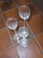 Handgeblazen glazen set