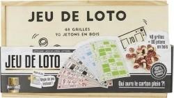 Lottospel - Jeu de Loto - 48 Kaarten - 90 Houten Fiches - L…