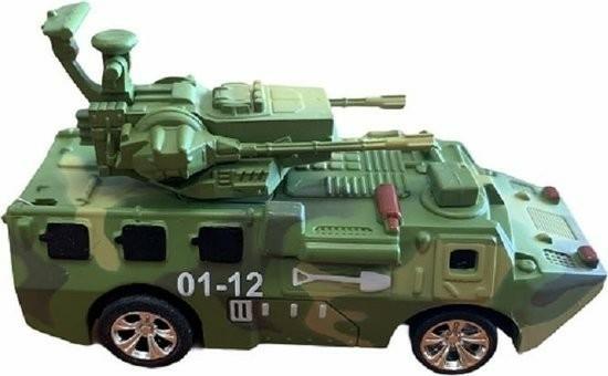Mini- Legervoertuig met geschut - met rc afstandsbedieninge…