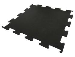 Fitness Vloer Interlock 8 mm full black 100x100x0,8cm