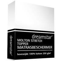 Dreamstar Hoeslaken Molton stretch topper 12cm