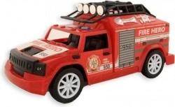 Brandweer auto 20 cm frictie Licht en geluid - vanaf 3 jaar