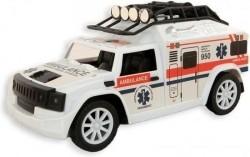 Ambulance 20 cm frictie Licht en geluid - vanaf 3 jaar