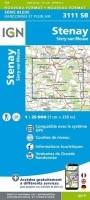 Topografische Wandelkaart van Frankrijk 3111SB - Stenay / S…