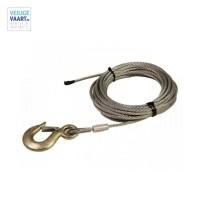 Staalkabel met lasthaak | 12 M lang | 8 mm dik