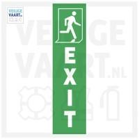 Exit pictogram Rechts Verticaal   125x35 mm