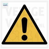 Caution pictogram   10x10 CM