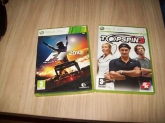 F1 2010 en Top spin 3 xbox 360