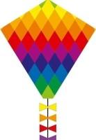 Eenlijnskindervlieger Eddy Rainbow Patchwork 45 X 50 Cm