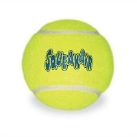 Kong air squeaker tennisbal geel met piep