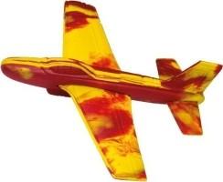 Werpvliegtuig Stunt Glider 18 X 18 Cm Geel/rood