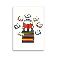 Dick Bruna ansichtkaart - lezen / boeken